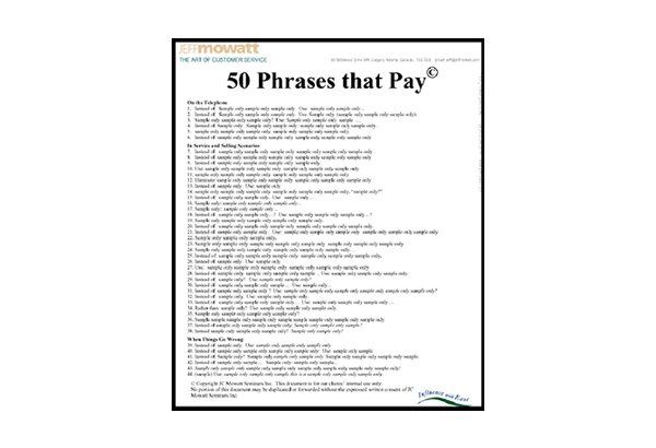 50 Phrases that Pay ©