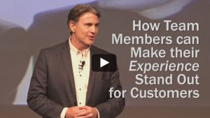 Jeff Mowatt video, make customers experience stand out